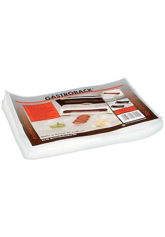 Vakuumierbeutel, Gastroback, »30 x 20 cm 50 Stück« kaufen