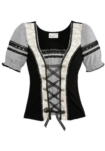 Marjo Trachtenshirt Damen mit Satinbandschnürung kaufen