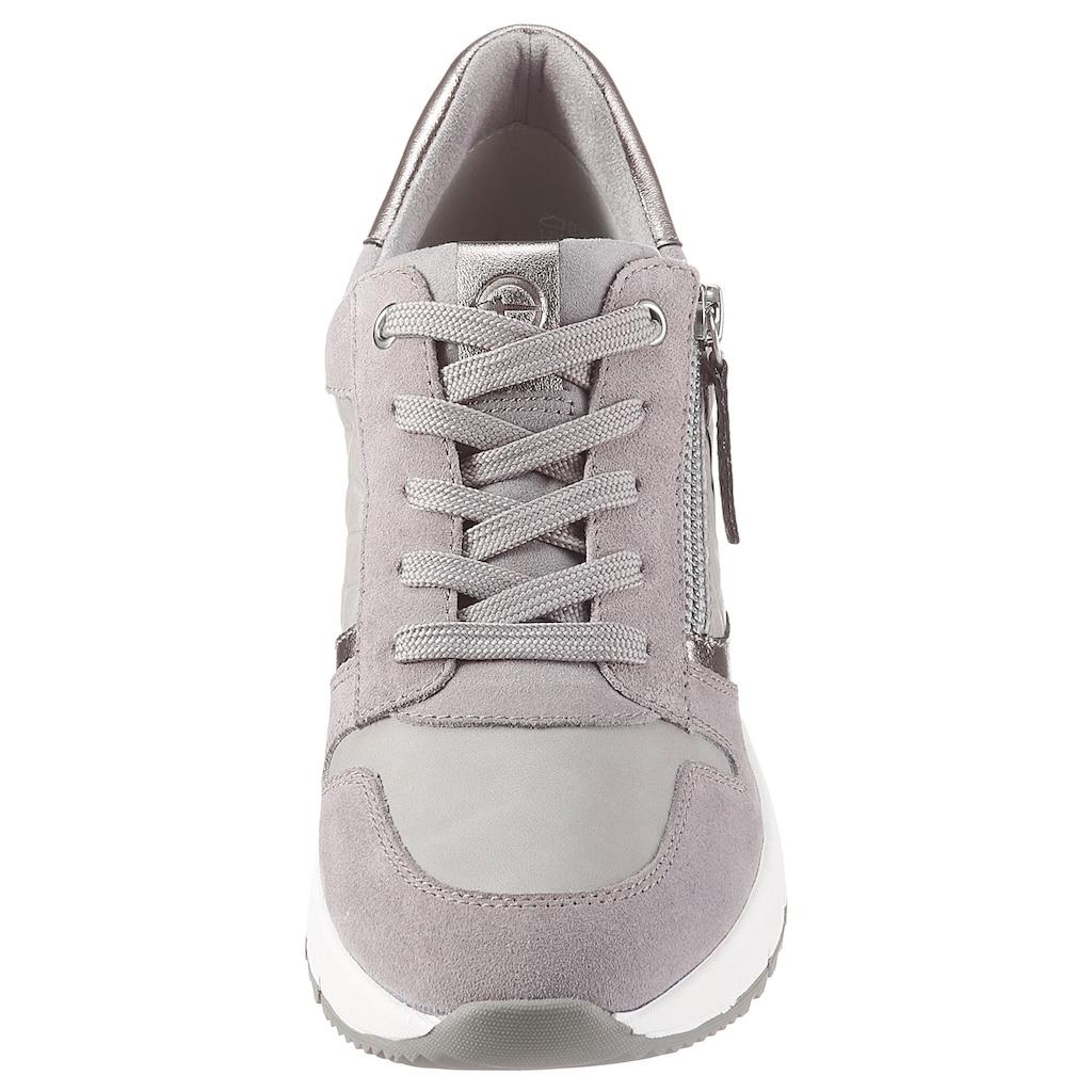 Tamaris Wedgesneaker »REA«, mit praktischem Wechselfussbett