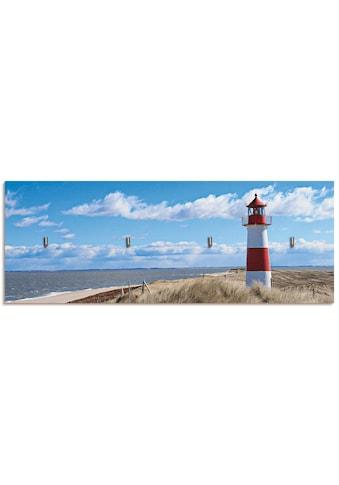 Artland Schlüsselbrett »Leuchtturm Sylt«, aus Holz mit 4 Schlüsselhaken –... kaufen