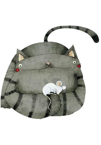 Wall-Art Wandtattoo »Freunde Maus und Katze« kaufen