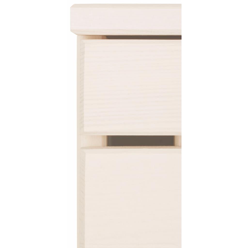 Home affaire Waschbeckenunterschrank »Josie«, Breite 60, aus Massivholz, Metallgriffe, 1 Schublade & 2 Türen