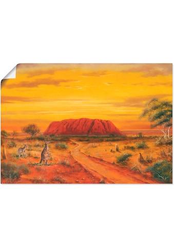 Artland Wandbild »Australisches Tal«, Australien, (1 St.), in vielen Grössen & Produktarten - Alubild / Outdoorbild für den Aussenbereich, Leinwandbild, Poster, Wandaufkleber / Wandtattoo auch für Badezimmer geeignet kaufen