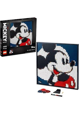 LEGO® Konstruktionsspielsteine »Disney's Mickey Mouse - Kunstbild (31202), LEGO® Art«,... kaufen