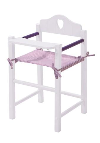 roba® Puppenhochstuhl »Fienchen - Weiss-Lila« kaufen