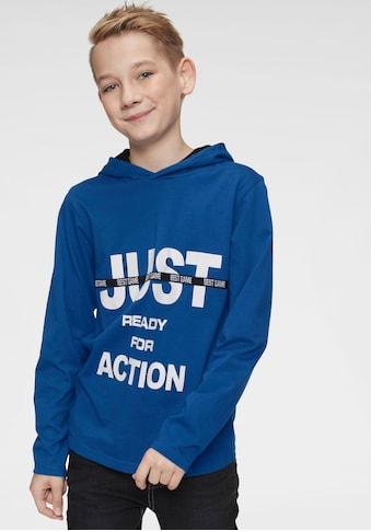 Arizona Kapuzenshirt »Just ready for action« acheter