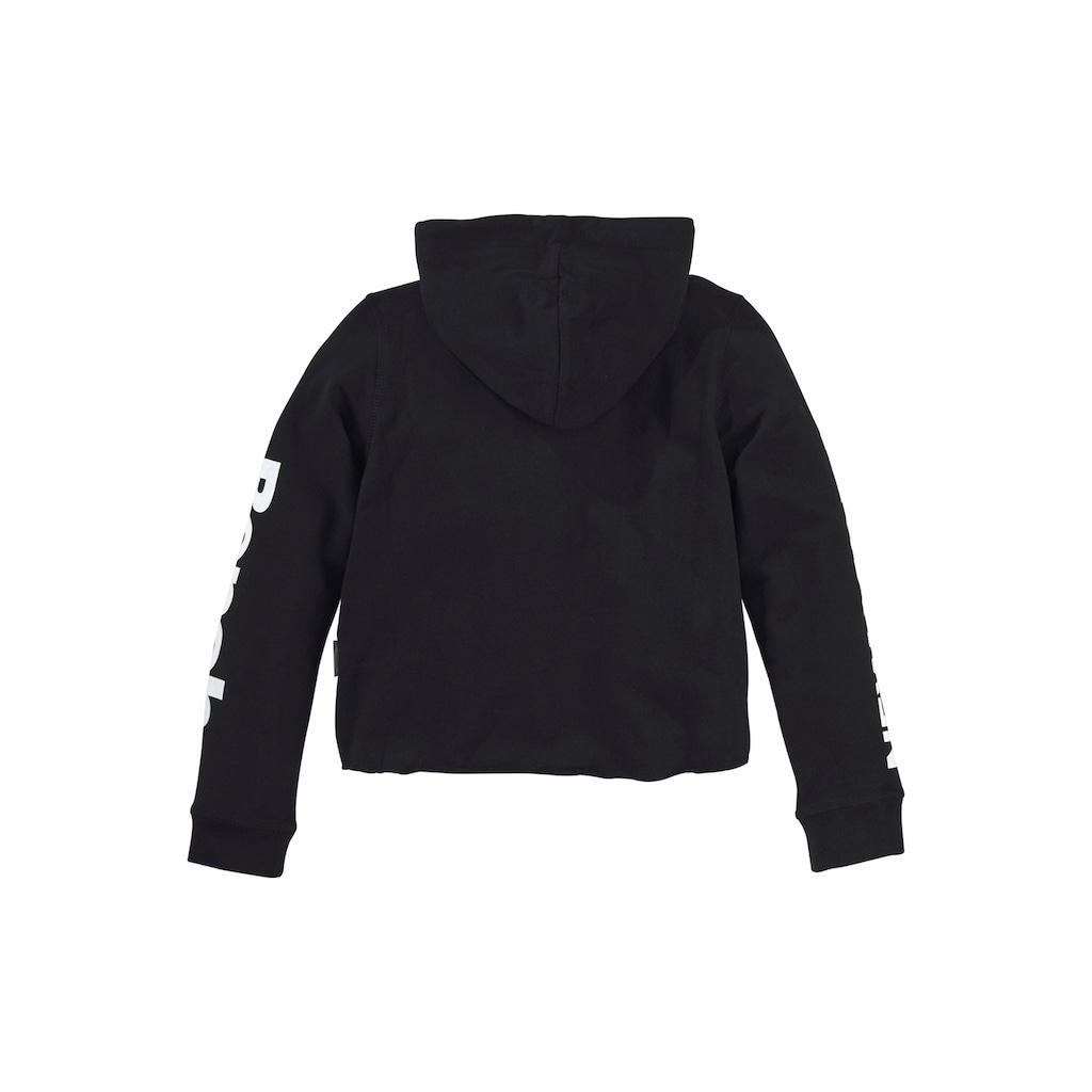 Bench. Kapuzensweatshirt, in kurzer Form mit offener Saumkante