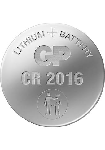 GP Batteries Knopfzelle »CR2016 Lithium«, CR2016, 3 V, (Set, 5 St.) kaufen