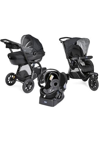 Chicco Kombi-Kinderwagen »Trio-System Activ3 Top, Jet Black«, 15 kg, mit Regenschutz,... kaufen