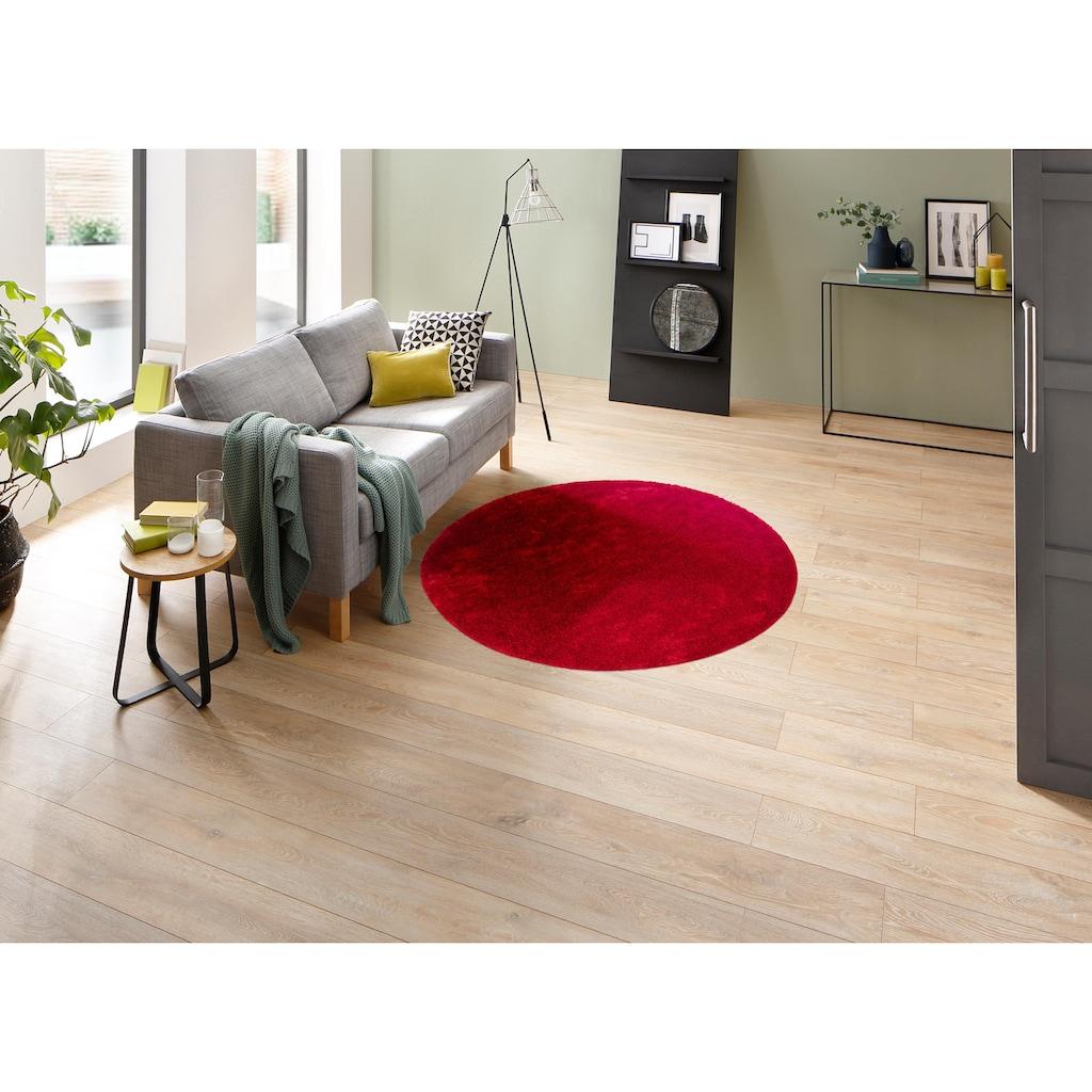 my home Hochflor-Teppich »Mikro Soft Ideal«, rund, 30 mm Höhe, Besonders weich durch Microfaser, extra flauschig, Wohnzimmer
