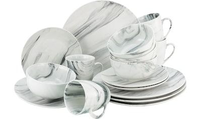 "CreaTable Kombiservice ""Marmor"" (16 - tlg.), Porzellan kaufen"