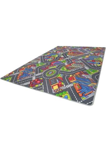 Andiamo Kinderteppich »Big City«, rechteckig, 7 mm Höhe, Strassen-Spielteppich, Strassenbreite: 8,5 cm kaufen