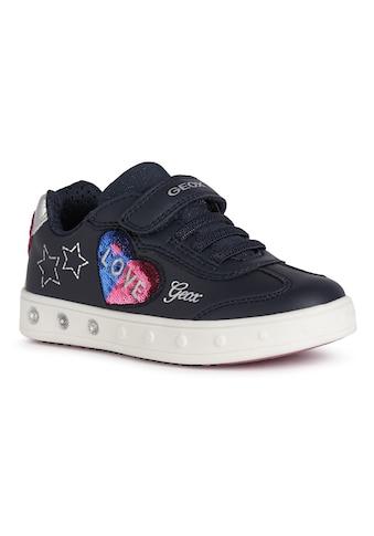 Geox Kids Sneaker »Blinkschuh SKYLIN GIRL«, mit süsser Herz-Applikation kaufen