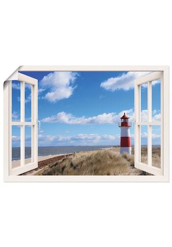 Artland Wandbild »Fensterblick - Leuchtturm Sylt«, Fensterblick, (1 St.), in vielen... kaufen