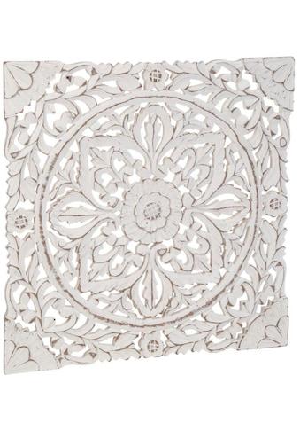 Schneider Wanddekoobjekt »Holz-Ornamentik«, Wanddeko, Ornament, weiss kaufen