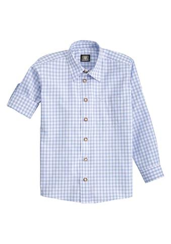OS - Trachten Trachtenhemd Kinder mit Krempelärmel kaufen