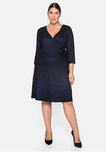 sheego by Joe Browns Jerseykleid, in Crinkle-Optik mit Glanzeffekt kaufen