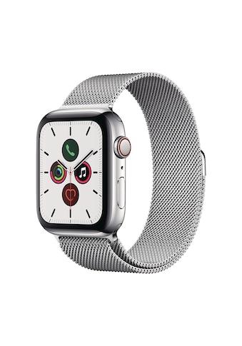 Apple Smartwatch »Serie 5, GPS Cellular, 44 mm Edelstahl-Gehäuse mit Sportarmband«,... kaufen