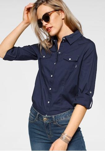 Arizona Hemdbluse »mit Druckknöpfen in Perlmuttoptik« kaufen