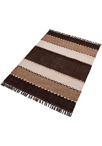 Teppich, »Eden«, Home affaire, rechteckig, Höhe 5 mm, handgewebt kaufen