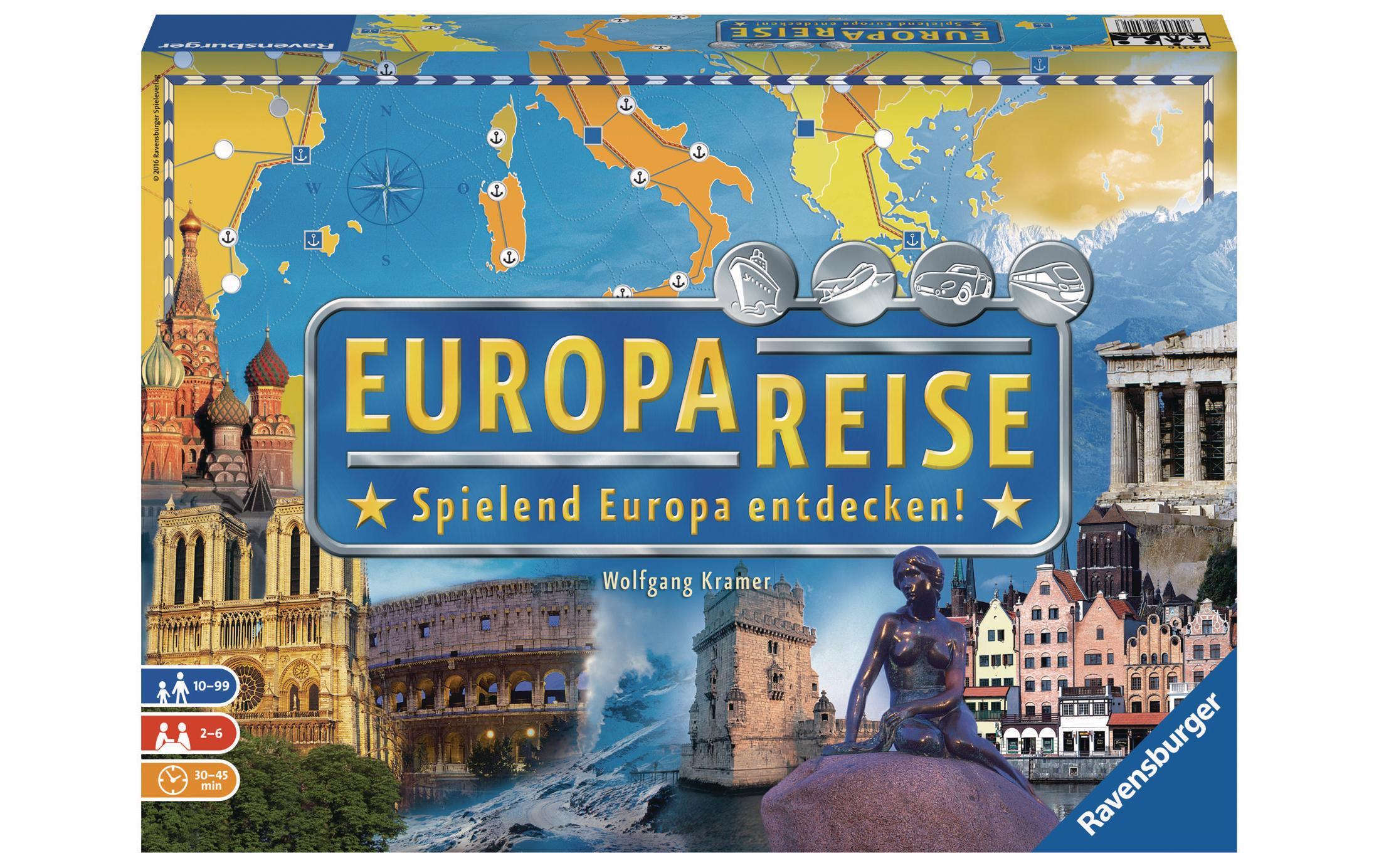 Image of Familienspiel, Ravensburger, »Europareise«