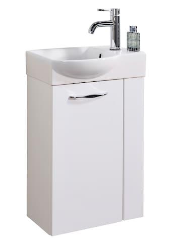 FACKELMANN Waschtisch »A - VERO«, Mini - Gäste - WC - Lösung, Breite 45 cm, Tiefe 32 cm (2 - tlg.) kaufen