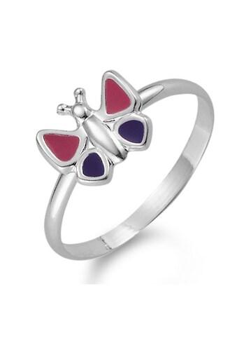 Fingerring Silberfarben Schmetterling, Lack pink/lila kaufen