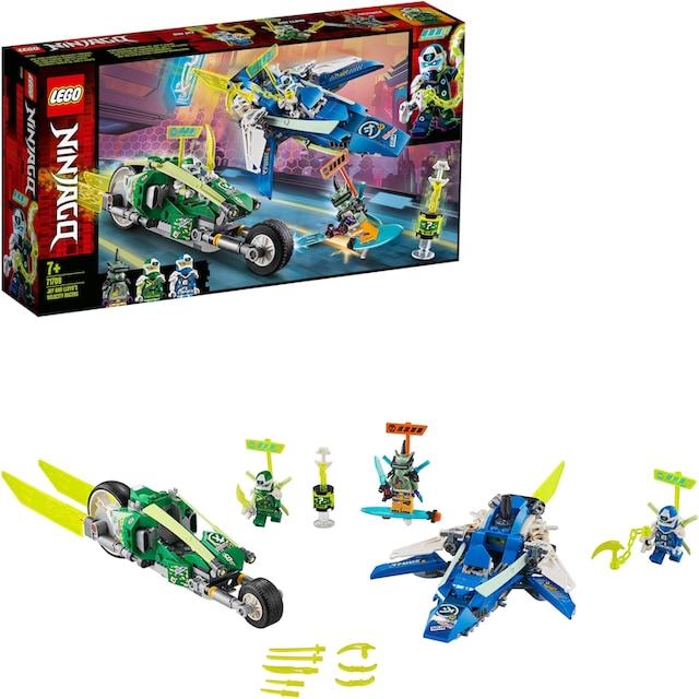 "LEGO® Konstruktionsspielsteine ""Jay und Lloyds Power-Flitzer (71709), LEGO® NINJAGO®"", Kunststoff, (322-tlg.)"