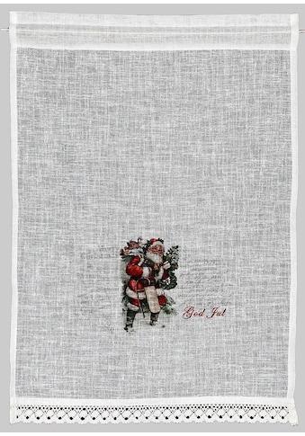 Scheibengardine, »Santa«, HOSSNER  -  ART OF HOME DECO, Stangendurchzug 1 Stück kaufen