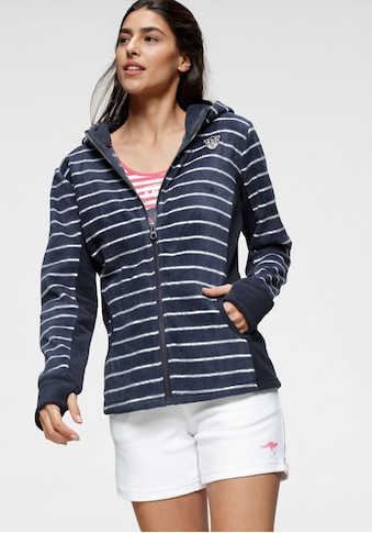 KangaROOS Fleecejacke, im trendigem Uni-Streifen-Mix kaufen