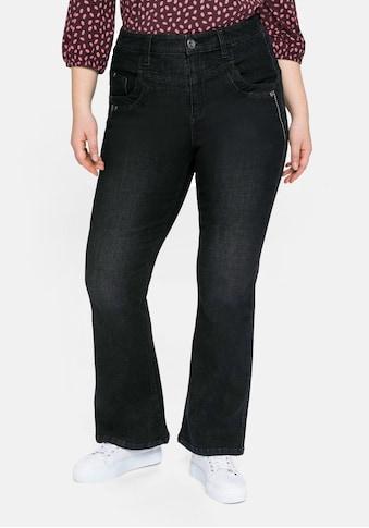 Sheego Bootcut-Jeans, mit High-Waist-Bund und Stickerei kaufen