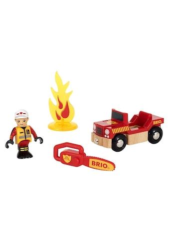 BRIO® Spielzeugeisenbahn-Erweiterung »BRIO® WORLD Spielpäckchen Feuerwehr«, für Spielzeugeisenbahn kaufen