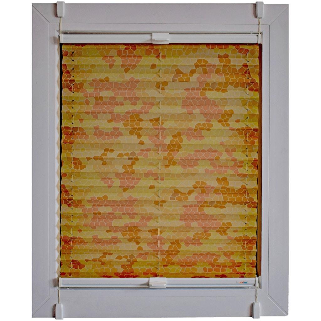 sunlines Plissee nach Mass »Start-up Style Mosaik«, Lichtschutz, ohne Bohren, verspannt, verspannt mit Simply-Fix Klemmträger
