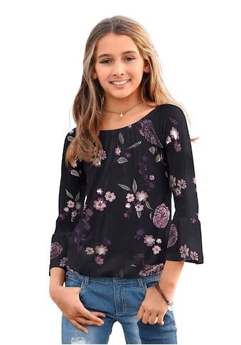 KIDSWORLD 3/4-Arm-Shirt, mit grossem elstischen Halsausschnitt kaufen