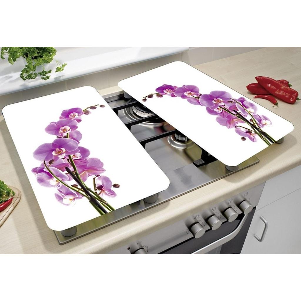 WENKO Herd-Abdeckplatte »Orchideenblüte«, kratzfest
