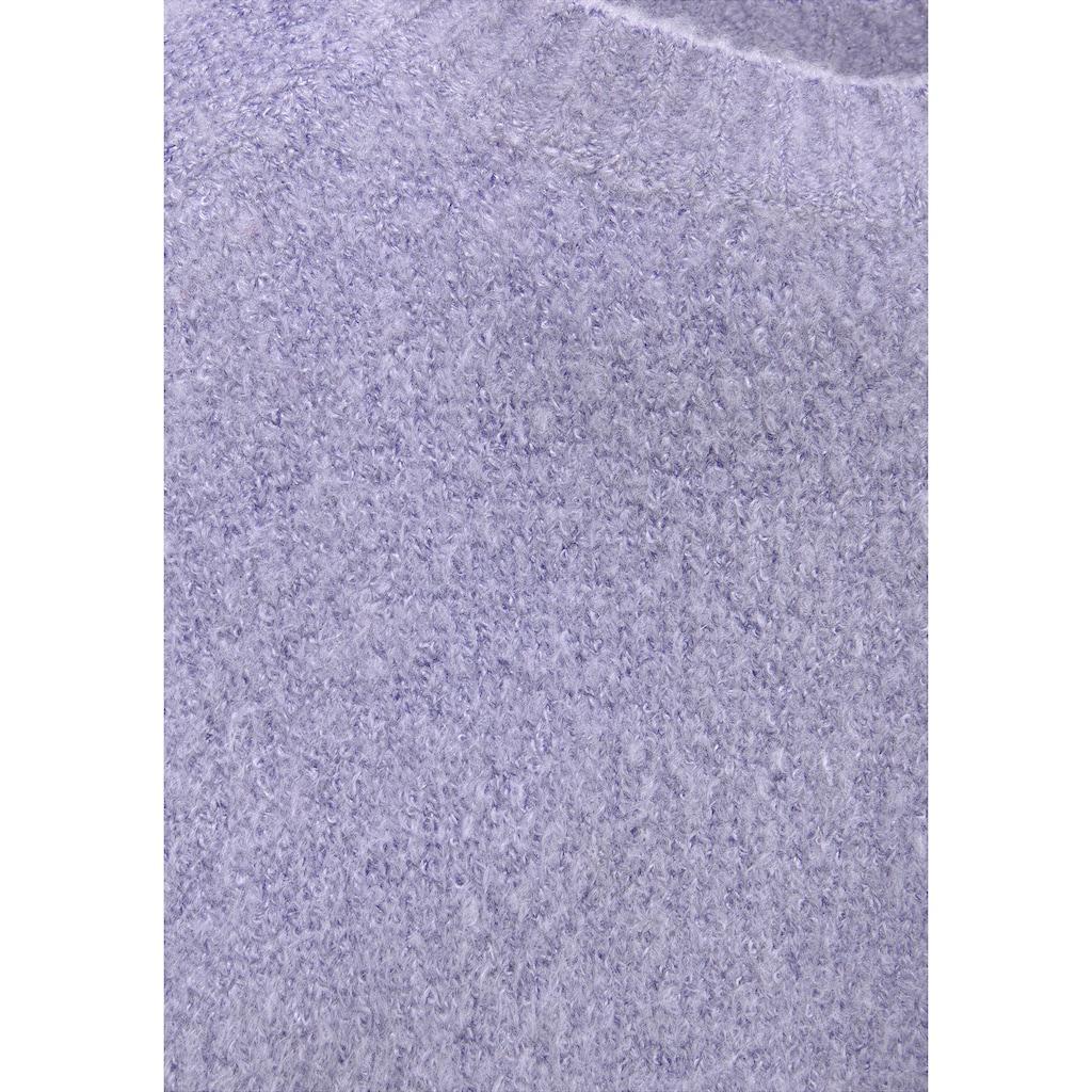 Arizona Strickpullover, in kurzer Form mit Puffärmeln