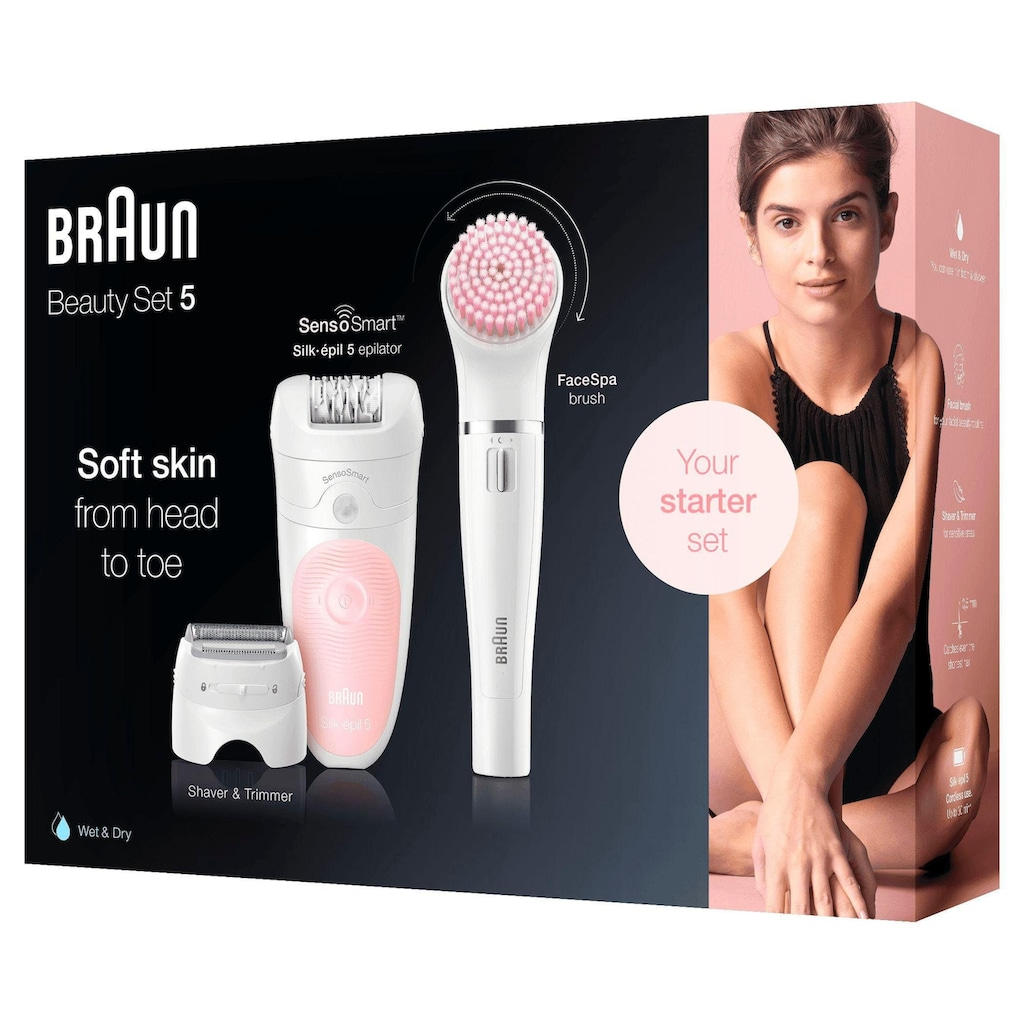 Braun Epilierer »Silk-épil 5 5-875 4-in-1«