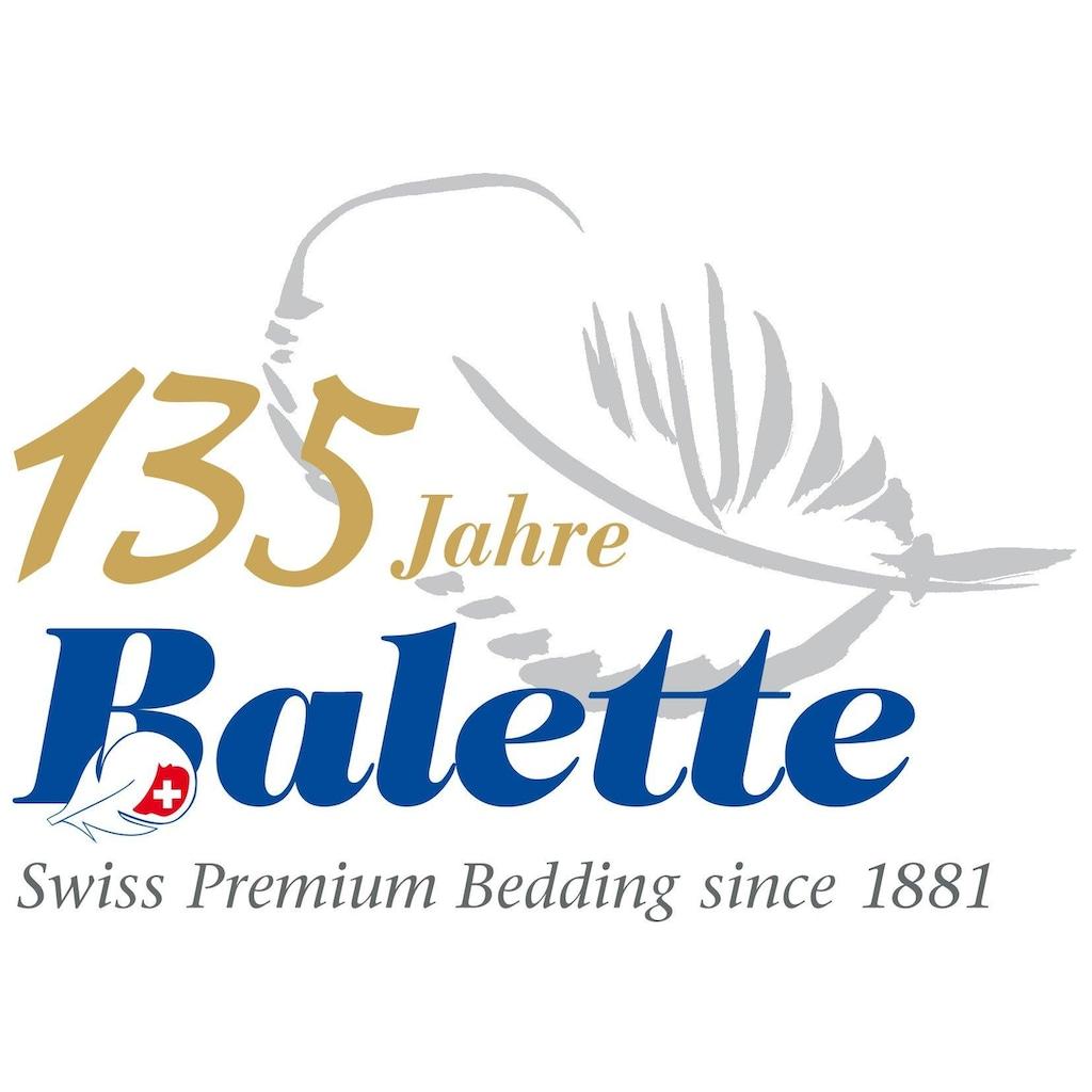 Balette Daunenbettdecke »Sommerduvet Nina«, leicht, Füllung neue reine Entendauen 90%, weiss, Bezug 100% Baumwolle, (1 St.), Bezug mit Satin-Biese