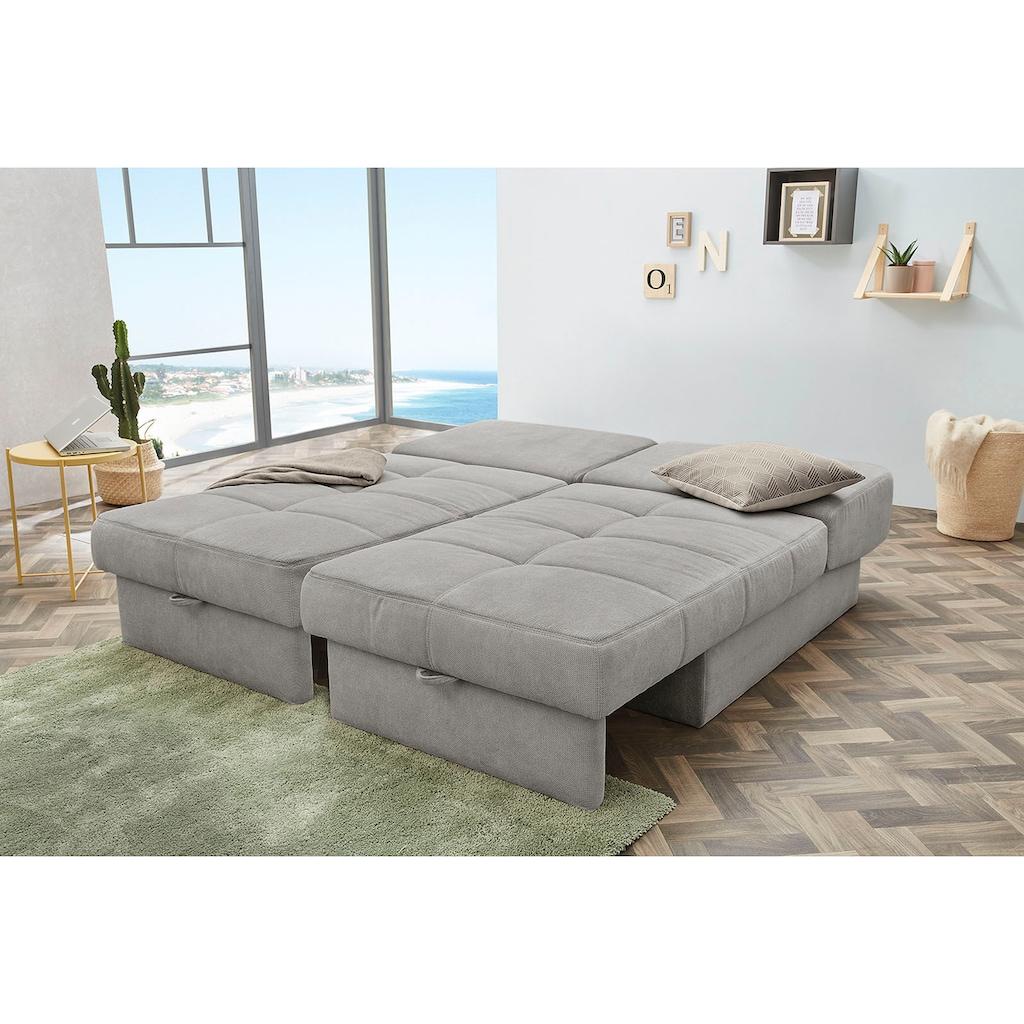 Jockenhöfer Gruppe Schlafsofa, inklusive Bettfunktion und Bettkasten, mit Federkern und loser Rückenkissen, frei im Raum stellbar
