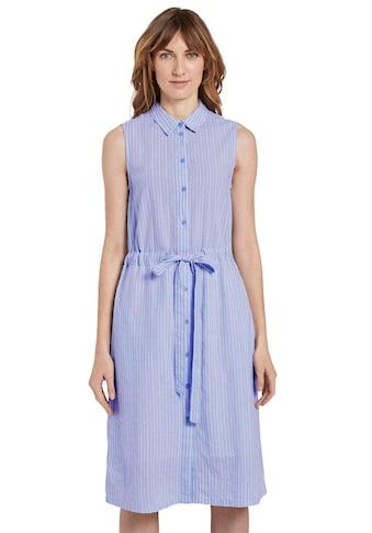 TOM TAILOR Hemdblusenkleid, mit Bindeband in der Taille kaufen