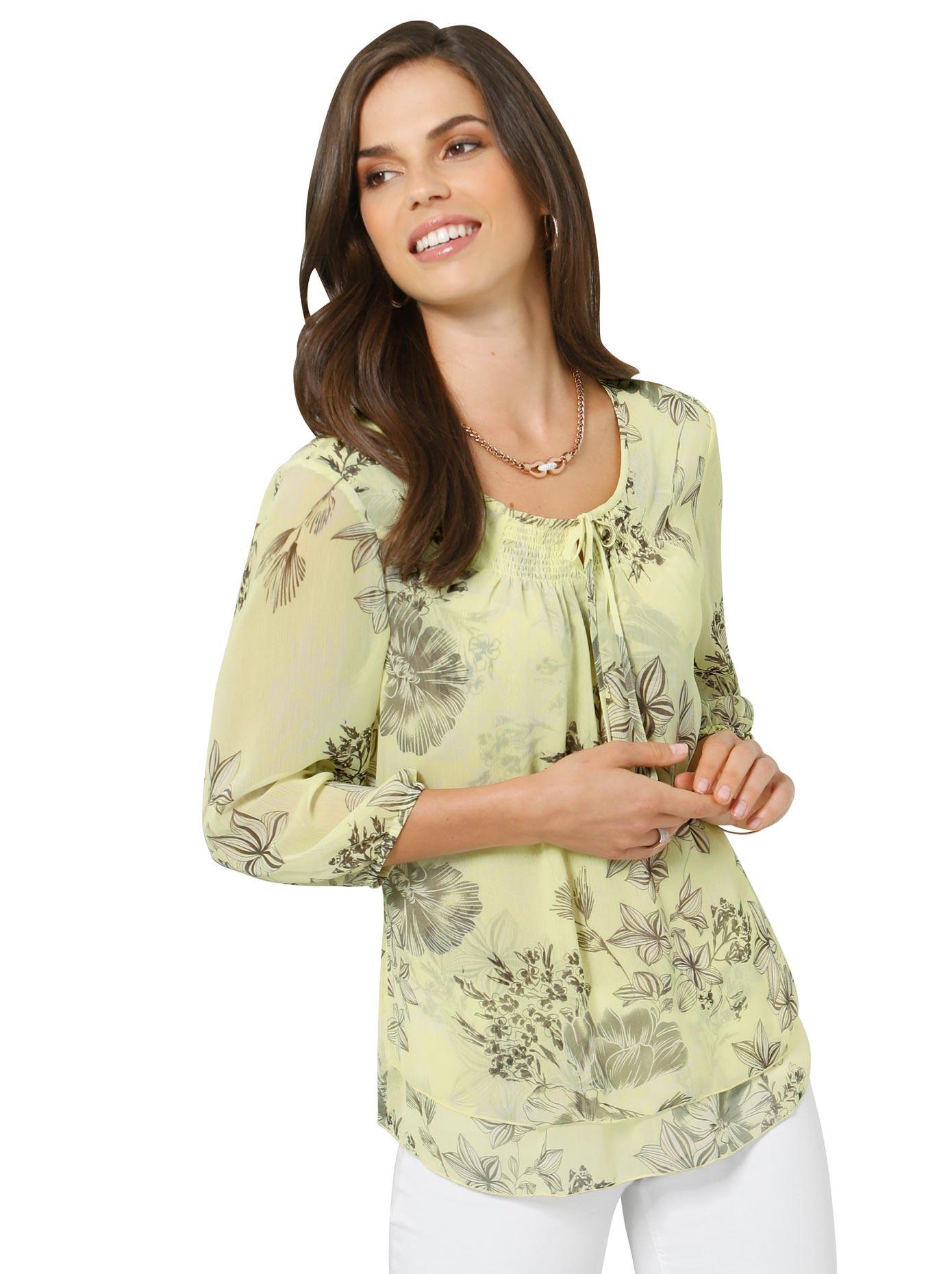 Image of Alessa W. Druckbluse im floralen Dessin