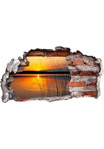Wall-Art Wandtattoo »Sonnenuntergang am See« kaufen