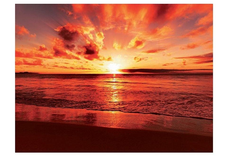 Image of Glasbild, Artland, »Beautiful tropical sunset on the beach«, Grösse: 60 x 80 cm