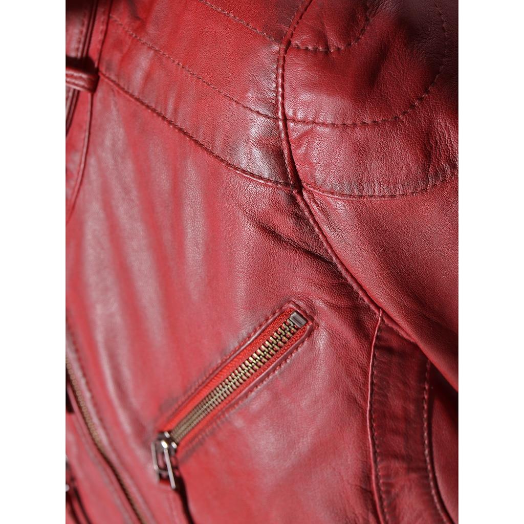 Maze Lederjacke mit zwei Brusttaschen