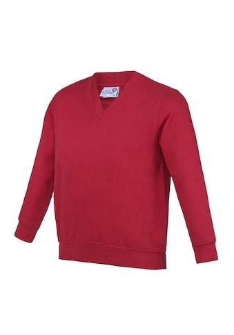 AWDIS V - Ausschnitt - Pullover »Academy Kinder Junior Schul Sweatshirt mit V - Ausschnitt (2 Stück/Packung)« acheter