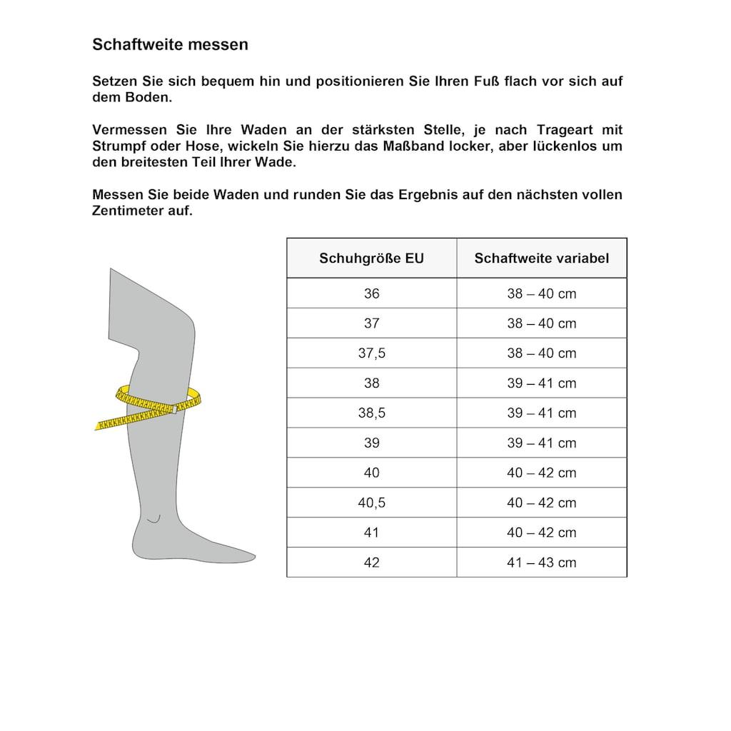 Caprice Stiefel, variable Schaftweite von normal bis XL