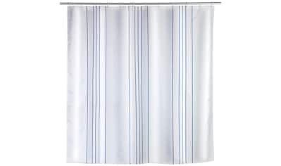 WENKO Duschvorhang »Linen Blue« Breite 200 cm kaufen