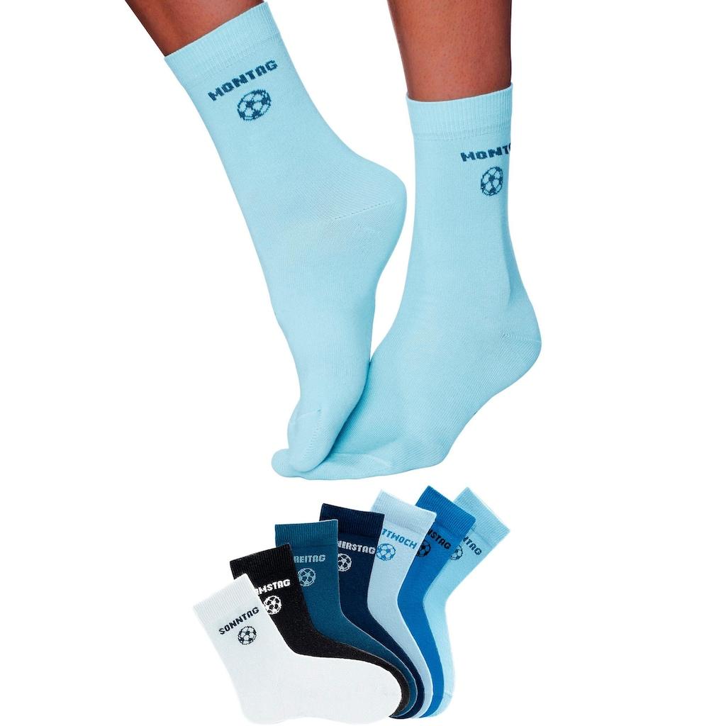 H.I.S Socken, (7 Paar), für Kinder mit Fussballmotiv
