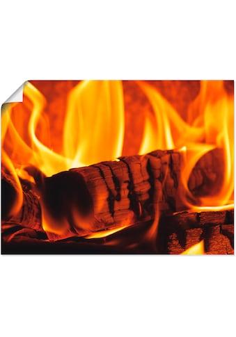 Artland Wandbild »Kaminfeuer 3« kaufen