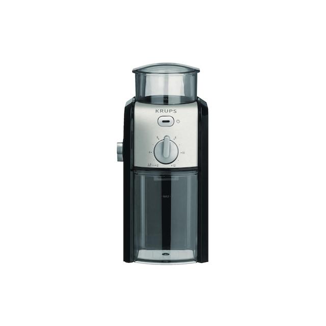 Kaffeemühle, Krups, »Expert Schwarz Silberfarben«